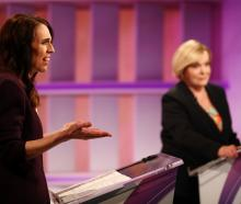 Labour leader Jacinda Ardern (left) and National's Judith Collins at last night's debate. Photo:...