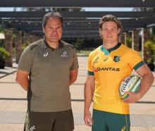 Dave Rennie and Michael Hooper. Photo: Getty Images