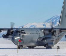 A RNZAF C-130 Hercules in Antarctica. Photo: Supplied via NZH
