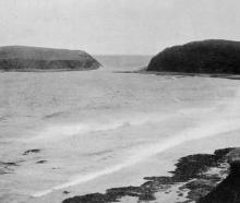 Jacks Island and Bay in the Catlins district, a bathing resort at holiday time. — Otago Witness,...