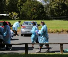Greenhithe residents rushed to a Covid-19 pop-up testing station at Wainoni Park in response to a...