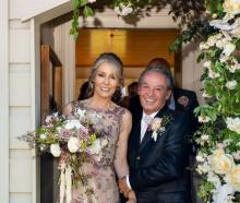 Newlyweds Suzanne Hackett, nee Tapper, and her husband, bungy king AJ at their Glenorchy wedding...