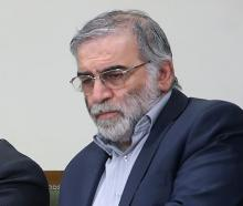 Prominent Iranian scientist Mohsen Fakhrizadeh. Photo: Official Khamenei Website/WANA (West Asia...