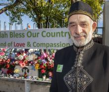 Dr Mohammad Alayan outside the Al Noor mosque, Christchurch. Photo: Allied Press files
