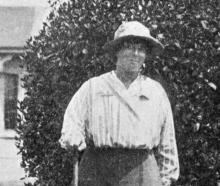 Mrs Orbell, of Oamaru, winner of the ladies' golf championship. — Otago Witness, 30.11.1920.