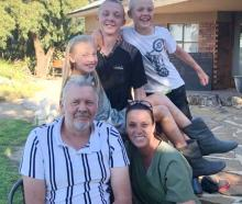 Dewald, Carla, Marieke (11), Adriaan (15) and Carlo (13) Badenhorst in South Africa, where they...