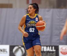 Te Araroa Sopoaga handles the ball on debut for the Otago Gold Rush during its National...