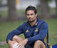 Highlanders assistant coach Shane Christie takes a break during a training session at Logan Park...