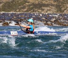 Te Anau's Claire Bell in action in the recent Rasdex Classic on the Waimakariri River. PHOTO:...