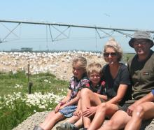 Ali van Polanen and Andrew Black along with children Florence and Hudson are enjoying having...