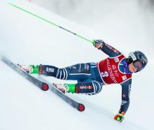 New Zealand's Alice Robinson competes during the Alpine Ski World Cup Women's Giant Slalom...