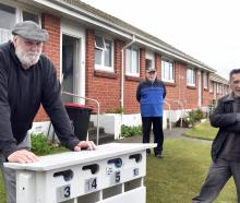 Invercargill City Council housing unit tenants (from left) Ken McNaught, Michael Reid and Nehua...