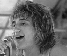 Rod Stewart pictured in the 1970s. Photo: File