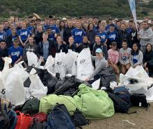 About 190 University of Otago students from St Margaret's College removed this rubbish in a clean...