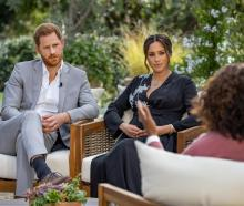 Prince Harry and Meghan, Duchess of Sussex, are interviewed by Oprah Winfrey in this undated...