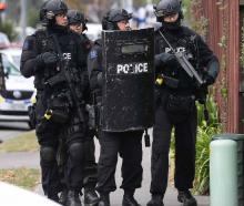 A man was taken into custody after a two-hour stand-off with police. Photo: NZ Herald