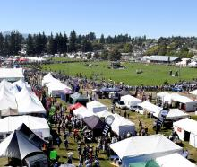 An aerial view of the Wanaka A&P Showgrounds during the Wanaka show grand parade on Saturday.