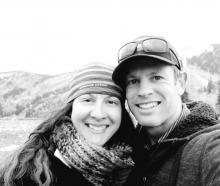 Skye Deutschbein and her husband Nathan, who was killed by an avalanche near Mt Cook. Photo /...