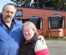 Former Clarks Junction Hotel owners Adrian and Gillian Bardrick outside the eye-catching...