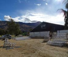 Silver Fern Farms began setting up for the Wanaka A&P Show on Tuesday afternoon, before the...