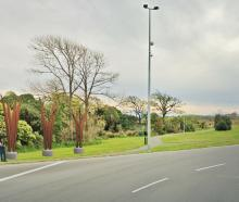 The new-look fronds will sit at the Anzac Drive-New Brighton Rd intersection. Image: Newsline / CCC