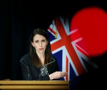 Prime Minister Jacinda Ardern speaks to media during a press conference at Parliament yesterday....