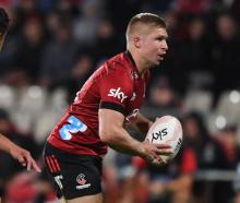Jack Goodhue in action for the Crusaders earlier this year. Photo: Getty Images