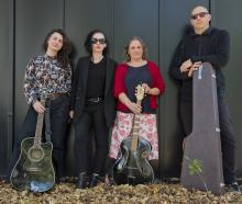 Dunedin musicians (from left) Dr Marissa Kaloga, Dr Fairleigh Evelyn Gilmour, Liz McCafferty and...