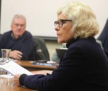 Jan Wheeler speaks at a Waitaki District Council hearing regarding a proposal to lease part of...