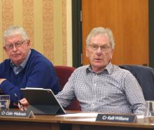 Councillors Bill Kingan (left) and Colin Wollstein voted against leasing part of Awamoa Park to...