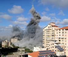 Smoke rises following an Israeli air strike in Gaza City. Photo: Reuters