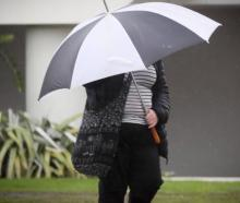 Bring out the brollies, there's rain and wild weather on the way for the South Island. Photo:...