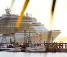 Cruise ship Celebrity Solstice pictured at Careys Bay in 2017. PHOTO: STEPHEN JAQUIERY