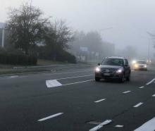Fog rolled into Christchurch this morning. Photo: Hamish Clark / NZH