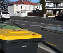 Rubbish and recycling around Dunedin. PHOTO: Gregor Richardson