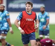 Beauden Barrett takes part in a Blues Super Rugby Trans-Tasman training session at Blues HQ in...