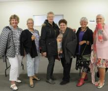 Runway fashion models and members of Netherby WI (from left) Diane Bradley, Patsy Huggins,...