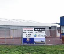 Burns Group Limited's newly finished yard in Mosgiel sits empty on Wednesday morning after its...