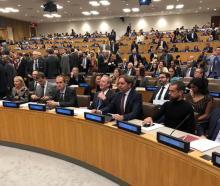 The Christchurch Call meeting at the UN in New York. Photo: RNZ / Craig McCulloch