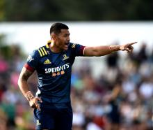 Solomon Alaimalo during the Super Rugby Aotearoa pre-season match between the Highlanders and the...