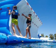 Kaiapoi's proposed aqua play park. Photo: Supplied