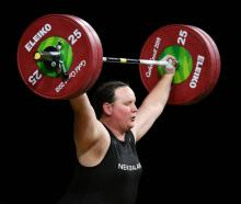 New Zealand weightlifter Laurel Hubbard, a transwoman competing in the 2018 Commonwealth Games,...