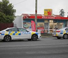 Police at the Race Course Dairy. Photo: Supplied