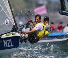 Peter Burling and Blair Tuke in action at the Tokyo Games. Photo: Reuters