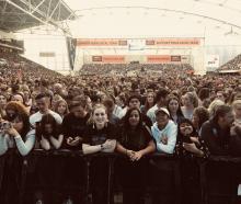 The crowd at the Ed Sheeran at Forsyth Barr Stadium. Photo: Craig Baxter