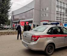 National Guard personnel at the scene at Perm State University. Photo: Reuters