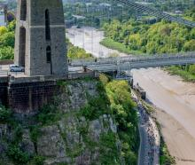 Runners (bottom right) during the Bristol 10K. Photo: Getty stock image
