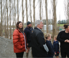 Rangitata MP Jo Luxton and Agricultural Minister Damien O'Connor visiting a flood-affected farm...