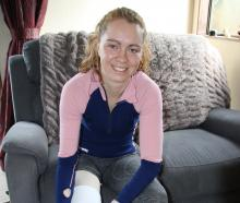 Aleina Beer is recovering well from the partial amputation of her right leg and is getting used...