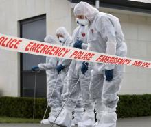 The police forensic team have arrived at the property and a scene examination will get underway...